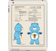 Champ Bear Patent iPad Case/Skin