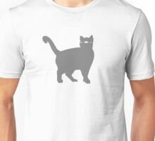 Ninja Cat Grey Unisex T-Shirt