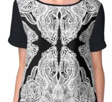 abstract ink pattern Chiffon Top