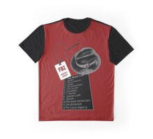 The Blacklist Top 12 with RR on Hat Graphic T-Shirt