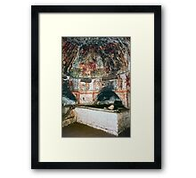C4 Jesus between Apostles on ceiling, Catacomb S Domatilla Rome Italy 19840722 0027p Framed Print