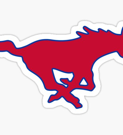 SMU Mustang Sticker