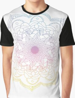 Watercolor mandala round pattern in oriental style. Graphic T-Shirt