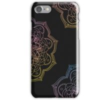 Watercolor mandala round pattern in oriental style. iPhone Case/Skin