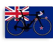 Bike Flag New Zealand (Big - Highlight) Canvas Print