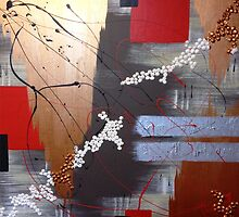 Asian Inspired Abstract 1 by Michelle Potter