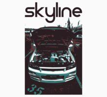 Nissan skyline (black) One Piece - Short Sleeve