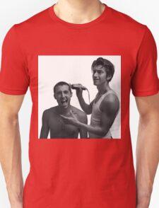 TLSP- Alex Turner shaving Miles Kane's head Unisex T-Shirt