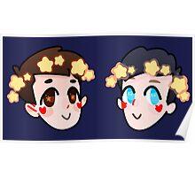 Dan & Phil Star Crown Sticker Pack Poster
