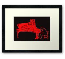 Gleen Gould's handmade exclusive design by InspiringPeople Framed Print