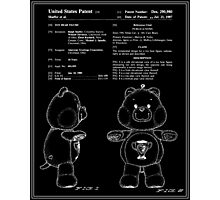Champ Bear Patent - Black Photographic Print