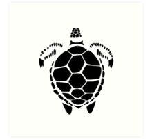 Black Sea Tortoise Shell Art Print