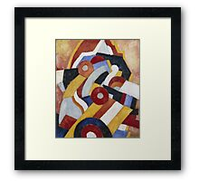 Marsden Hartley - Abstraction Blue, Yellow And Green. Abstract painting: abstract art, geometric, expressionism, composition, lines, forms, creative fusion, spot, shape, illusion, fantasy future Framed Print