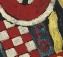 Marsden Hartley - Berlin Abstraction. Abstract painting: abstract art, geometric, expressionism, composition, lines, forms, creative fusion, spot, shape, illusion, fantasy future Sticker