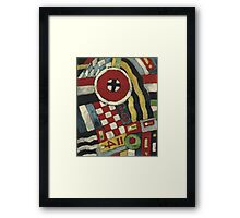 Marsden Hartley - Berlin Abstraction. Abstract painting: abstract art, geometric, expressionism, composition, lines, forms, creative fusion, spot, shape, illusion, fantasy future Framed Print