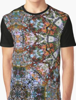 Intricate Colorful Ornate Eastern Influenced Tantric Design Stained Glass Mosaic Rosette Mandala  Graphic T-Shirt