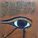Egyptian Inspired Acrylic by Michelle Potter