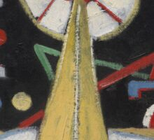 Marsden Hartley - Berlin Series No. 1. Abstract painting: abstract art, geometric, expressionism, composition, lines, forms, creative fusion, spot, shape, illusion, fantasy future Sticker