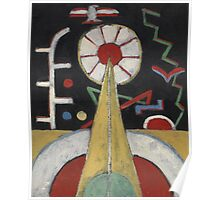 Marsden Hartley - Berlin Series No. 1. Abstract painting: abstract art, geometric, expressionism, composition, lines, forms, creative fusion, spot, shape, illusion, fantasy future Poster