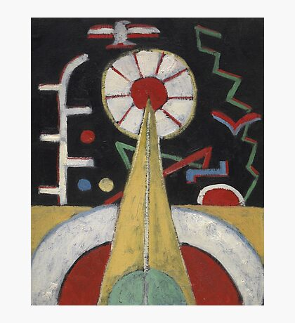 Marsden Hartley - Berlin Series No. 1. Abstract painting: abstract art, geometric, expressionism, composition, lines, forms, creative fusion, spot, shape, illusion, fantasy future Photographic Print