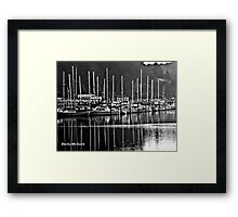 Foggy Day Winchester Bay Framed Print
