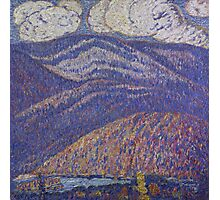 Marsden Hartley - Hall Of The Mountain King. Mountains landscape: mountains, rocks, rocky nature, sky and clouds, trees, peak, forest, rustic, hill, travel, hillside Photographic Print