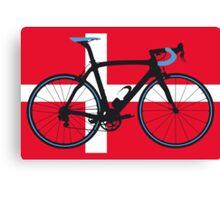 Bike Flag Denmark (Big - Highlight) Canvas Print