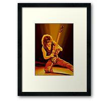 Eddie van Halen Painting Framed Print