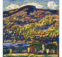 Marsden Hartley - Mountain Lake-Autumn. Mountains landscape: mountains,  Lake, rocky nature, sky and clouds, trees, peak, forest, rustic, hill, travel, Autumn Photographic Print