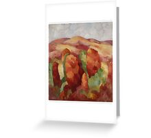 Marsden Hartley - Mountains. Mountains landscape: mountains, rocks, rocky nature, sky and clouds, trees, peak, forest, rustic, hill, travel, hillside Greeting Card