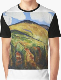 Marsden Hartley - Mountains No. 22. Mountains landscape: mountains, rocks, rocky nature, sky and clouds, trees, peak, forest, rustic, hill, travel, hillside Graphic T-Shirt