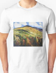 Marsden Hartley - Mountains No. 22. Mountains landscape: mountains, rocks, rocky nature, sky and clouds, trees, peak, forest, rustic, hill, travel, hillside Unisex T-Shirt