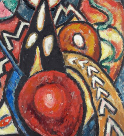 Marsden Hartley - Movements. Abstract painting: abstract art, geometric, expressionism, composition, lines, forms, creative fusion, spot, shape, illusion, fantasy future Sticker