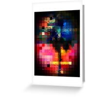 Colorful Tropical Collage Mosaic Greeting Card