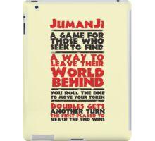 Jumanji's Rules iPad Case/Skin