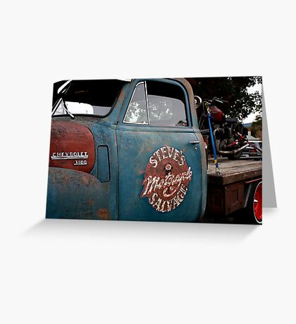 Steve's Motorcycle Salvage Greeting Card