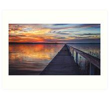Sunset at Long Jetty Art Print