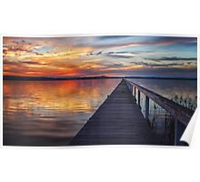 Sunset at Long Jetty Poster