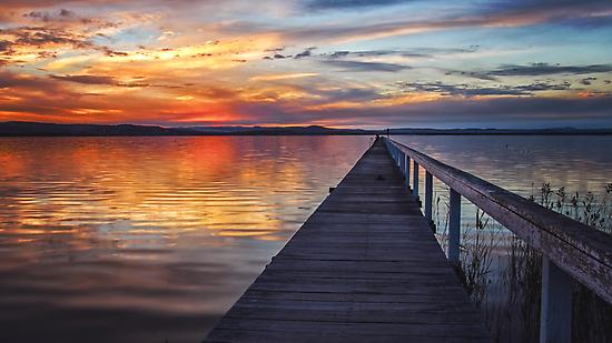 Sunset at Long Jetty by yolanda