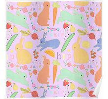 Bunny Pattern Poster