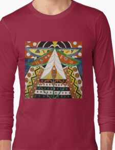 Marsden Hartley - Painting No. 50. Abstract painting: abstract art, geometric, expressionism, composition, lines, forms, creative fusion, spot, shape, illusion, fantasy future Long Sleeve T-Shirt