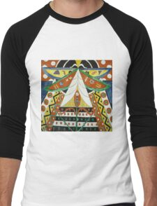 Marsden Hartley - Painting No. 50. Abstract painting: abstract art, geometric, expressionism, composition, lines, forms, creative fusion, spot, shape, illusion, fantasy future Men's Baseball ¾ T-Shirt