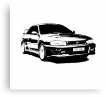 Subaru STI 22B - Solid Black Canvas Print