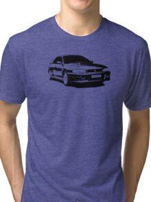 Subaru STI 22B - Solid Black Tri-blend T-Shirt