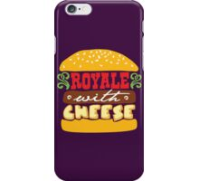 Pulp Fiction - Royale with cheese iPhone Case/Skin