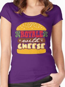 Pulp Fiction - Royale with cheese Women's Fitted Scoop T-Shirt