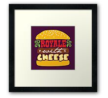 Pulp Fiction - Royale with cheese Framed Print