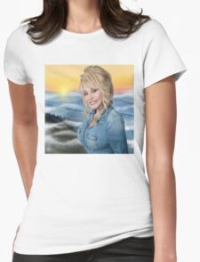 dolly parton poster Womens Fitted T-Shirt