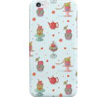 Cupcake seamless pattern iPhone Case/Skin