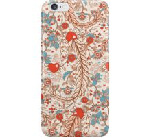 Seamless valentines decor pattern with flowers and hearts iPhone Case/Skin
